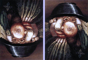 Giuseppe Arcimboldo Vegetables in a Bowl or The Gardener - Canvas Art Print