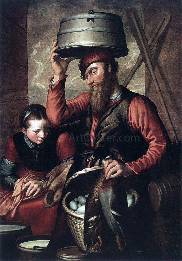 Pieter Aertsen Vendor of Fowl - Canvas Art Print