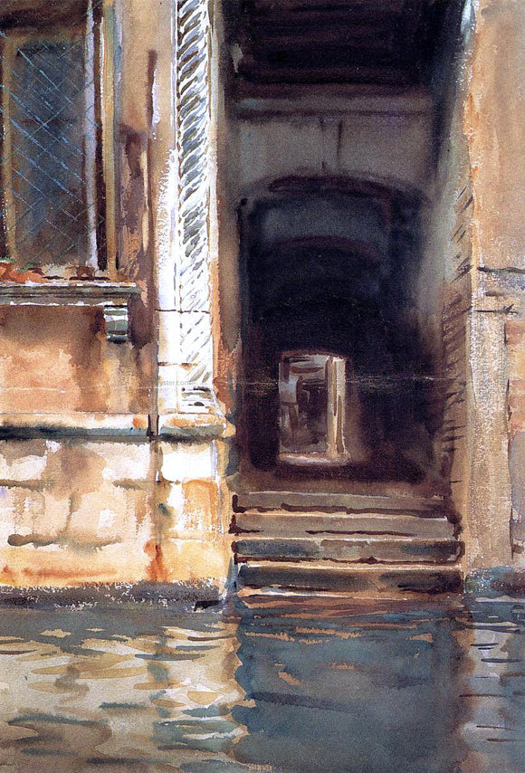 John Singer Sargent Venetian Doorway - Canvas Art Print