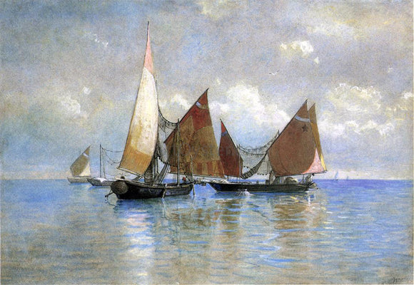 William Stanley Haseltine Venetian Fishing Boats - Canvas Art Print
