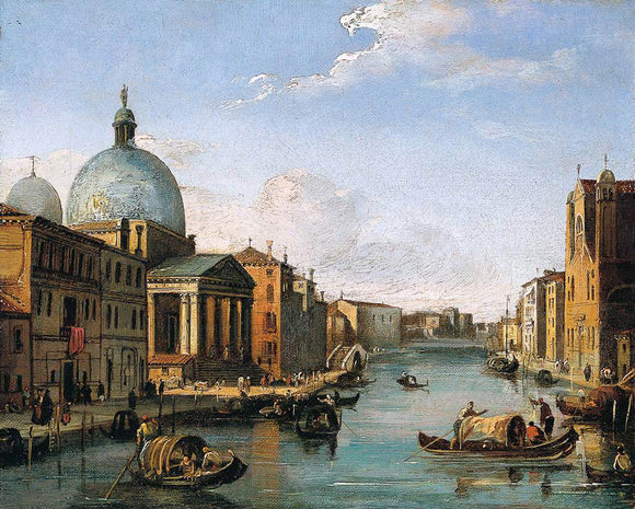 Giovanni Migliara Venetian View - Canvas Art Print