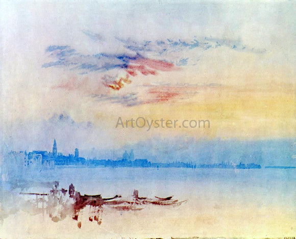 Joseph William Turner Venice, Looking East from the Guidecca: Sunrise - Canvas Art Print