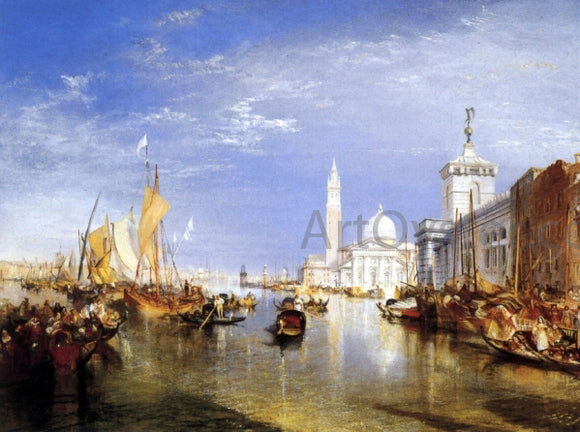 Joseph William Turner Venice: The Dogana and San Giorgio Maggiore - Canvas Art Print