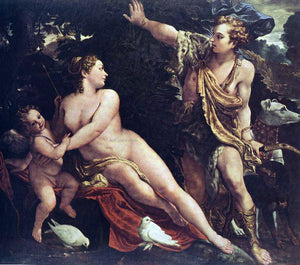 Annibale Carracci Venus and Adonis - Canvas Art Print
