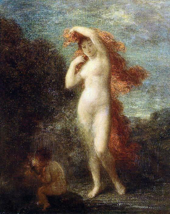 Henri Fantin-Latour Venus and Cupid - Canvas Art Print