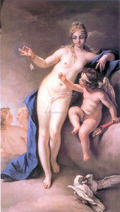 Sebastiano Ricci Venus and Cupid - Canvas Art Print