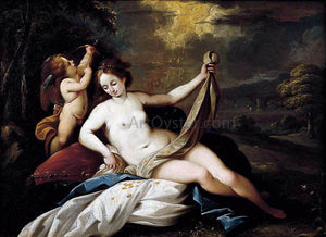 Giuseppe Nuvolone Venus and Cupid in a Landscape - Canvas Art Print