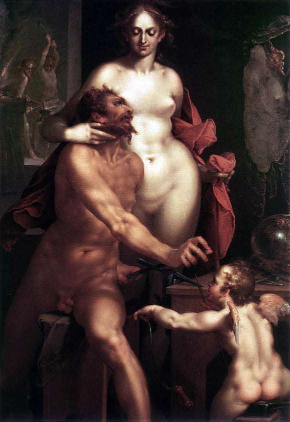 Bartholomaeus Spranger Venus and Vulcan - Canvas Art Print