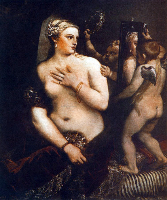 Titian Venus at her Toilet - Canvas Art Print