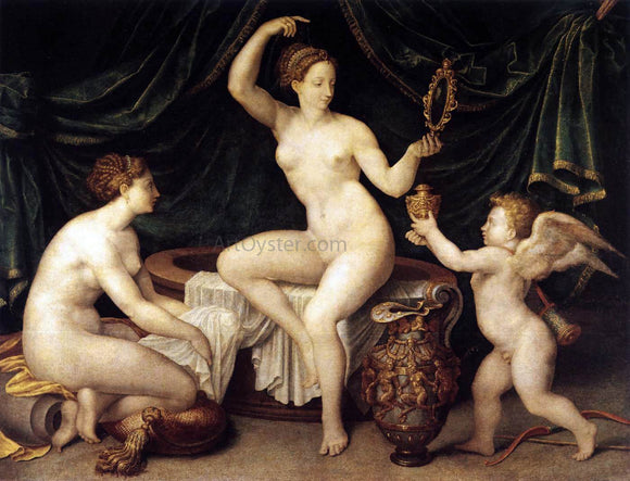 Masters of the Fontainebleau School Venus at Her Toilet - Canvas Art Print