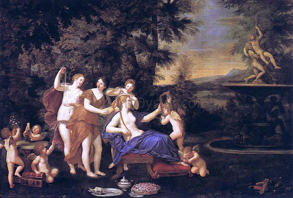 Francesco Albani Venus Attended by Nymphs and Cupids - Canvas Art Print