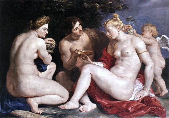 Peter Paul Rubens Venus, Cupid, Baccchus and Ceres - Canvas Art Print