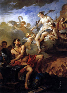 Charles Joseph Natoire Venus Demanding Arms from Vulcan for Aeneas - Canvas Art Print