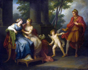 Angelica Kauffmann Venus Induces Helen to Fall in Love with Paris - Canvas Art Print