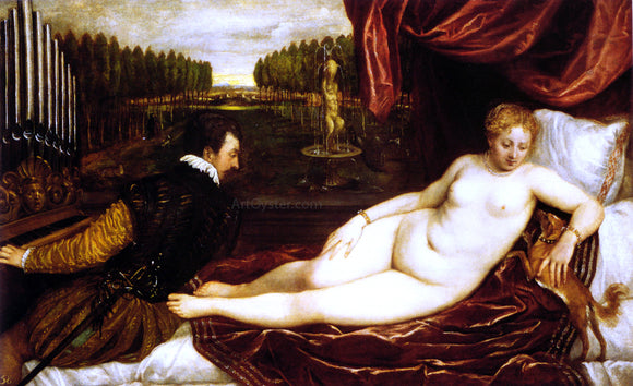 Titian Venus with Organist - Canvas Art Print