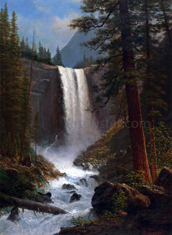 Albert Bierstadt Vernal Falls - Canvas Art Print