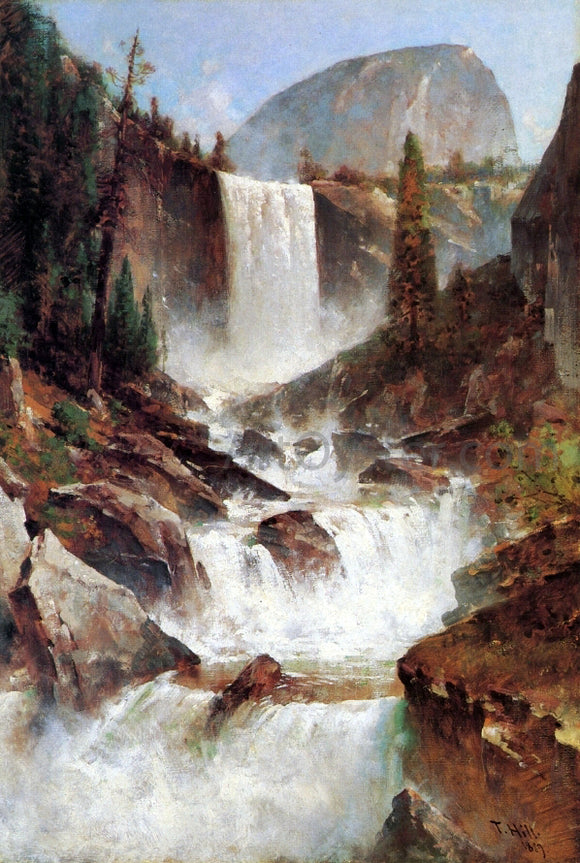 Thomas Hill Vernal Falls, Yosemite - Canvas Art Print