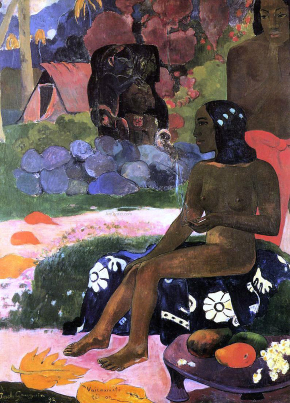 Paul Gauguin Viaraumati Tei Oa (also known as Her Name is Viaraumati) - Canvas Art Print
