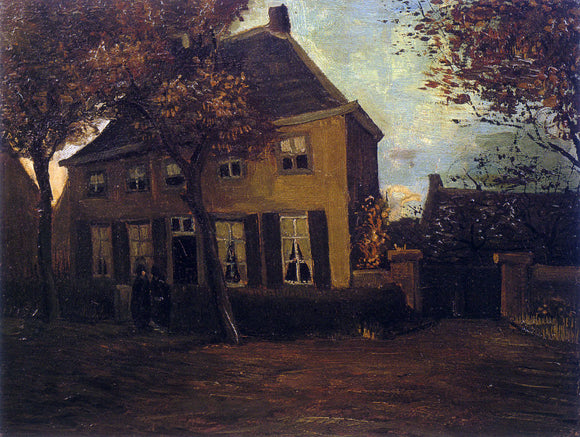 Vincent Van Gogh Vicarage at Nuenen (also known as The Vicarage at Nuenen) - Canvas Art Print