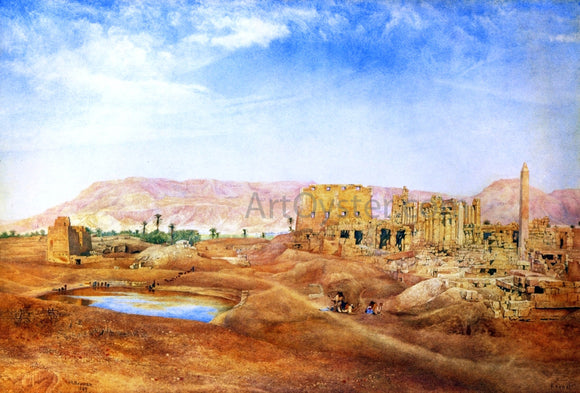 Henry Roderick Newman View at Karnak, Egypt - Canvas Art Print