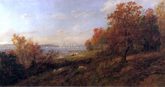 Jasper Francis Cropsey View from Hastings toward the Tappan Zee - Canvas Art Print