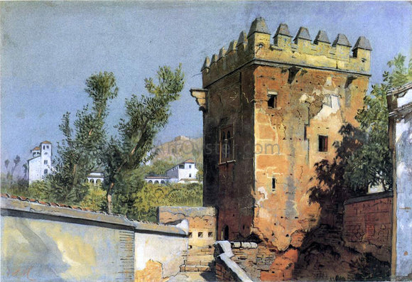William Stanley Haseltine A View from the Alhambra, Spain - Canvas Art Print