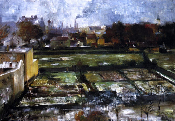 Lovis Corinth View from the Studio - Canvas Art Print