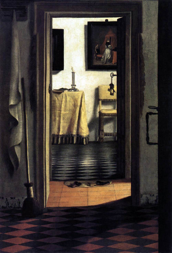 Samuel Van Hoogstraten View of a Corridor - Canvas Art Print