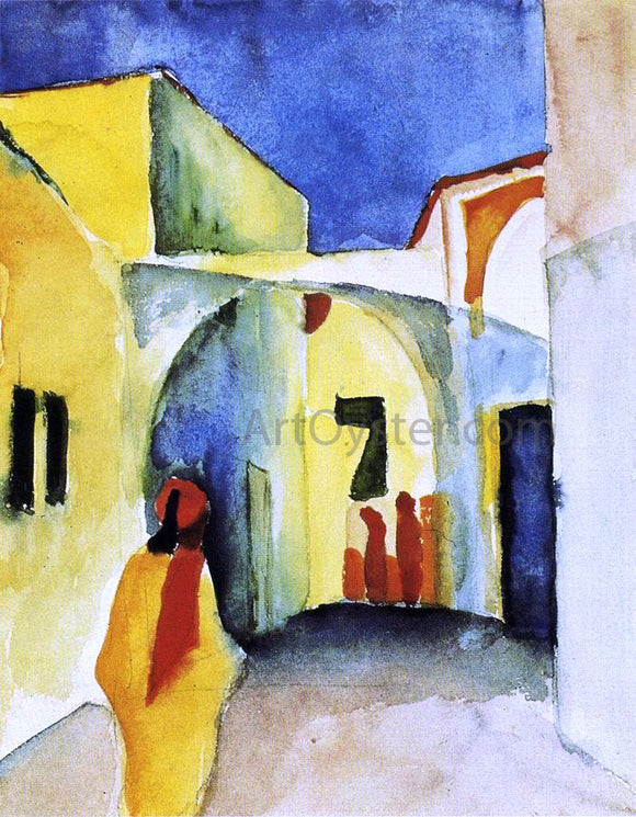 August Macke View of an Alley - Canvas Art Print