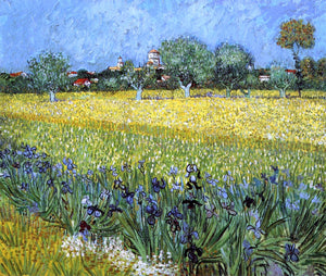 Vincent Van Gogh View of Arles with Irises - Canvas Art Print