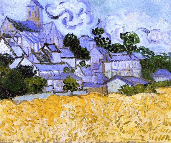 Vincent Van Gogh View of Auvers with Church - Canvas Art Print