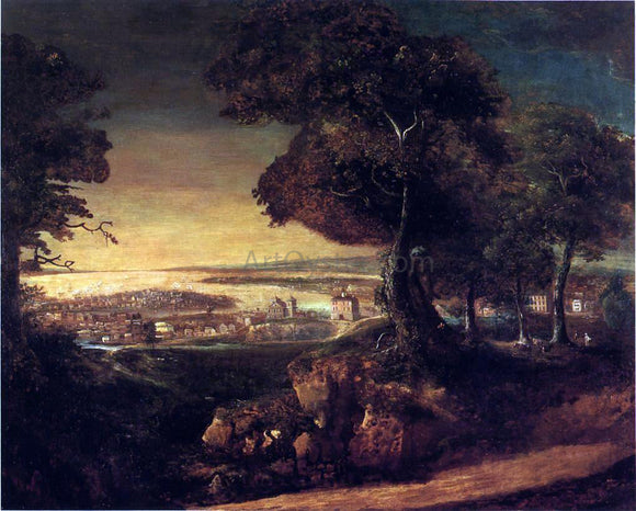 George Beck View of Baltimore from Howard's Park - Canvas Art Print