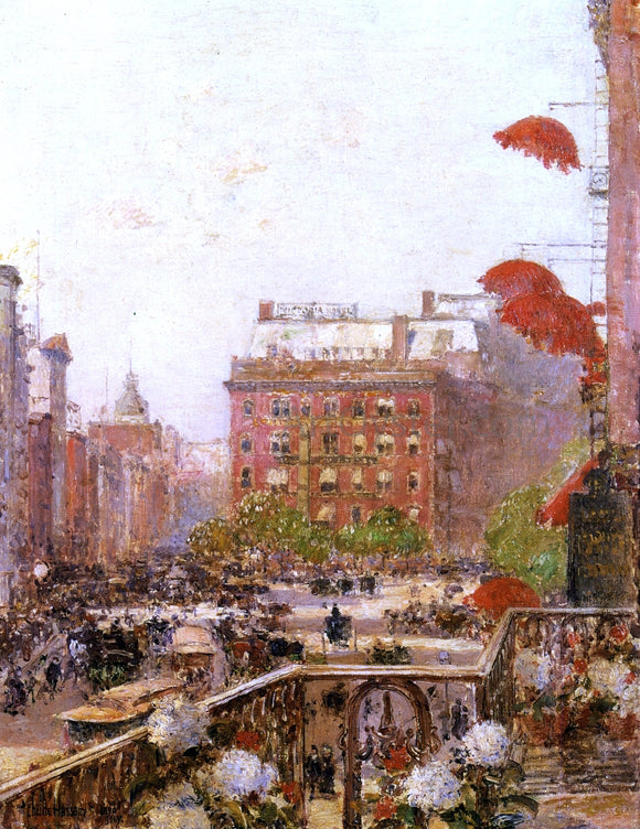 Frederick Childe Hassam View of Broadway and Fifth Avenue - Canvas Art Print