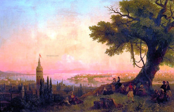 Ivan Constantinovich Aivazovsky View of Constantinople by evening light - Canvas Art Print