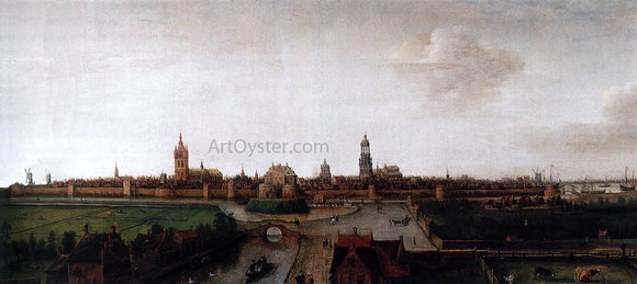 Hendrick Cornelisz Vroom View of Delft from the Southwest - Canvas Art Print