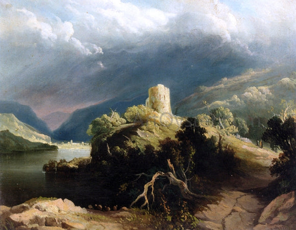 John Martin View of Dolbadern Castle, North Wales - Canvas Art Print