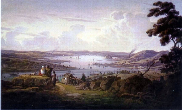 Robert Salmon View of Dunbarton and River Clyde - Canvas Art Print
