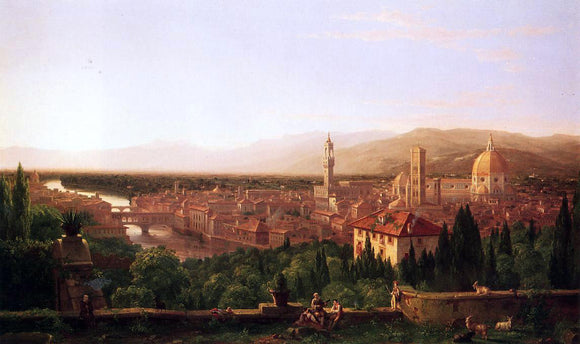Thomas Cole View of Florence from San Miniato - Canvas Art Print