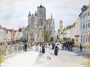 Jean-Francois Raffaelli View of Ghent - Canvas Art Print