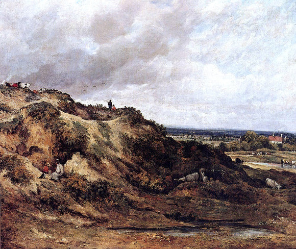 Frederick Waters Watts View Of Hampstead Heath - Canvas Art Print