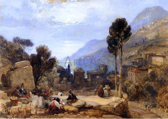 William Clarkson Stanfield View of Mount Etna from Taormina, Sicily - Canvas Art Print