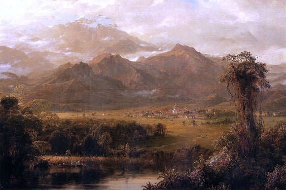 Norton Bush View of Mountains in Ecuador (also known as A Tropical Morning) - Canvas Art Print