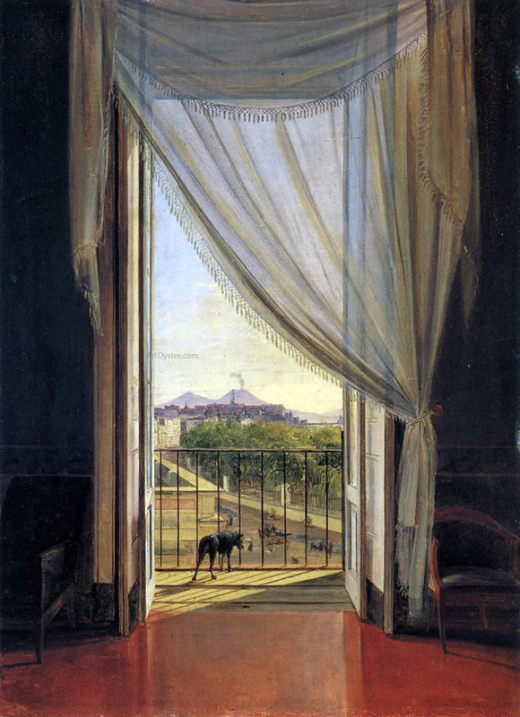 Franz Ludwig Catel View of Naples through a Window - Canvas Art Print