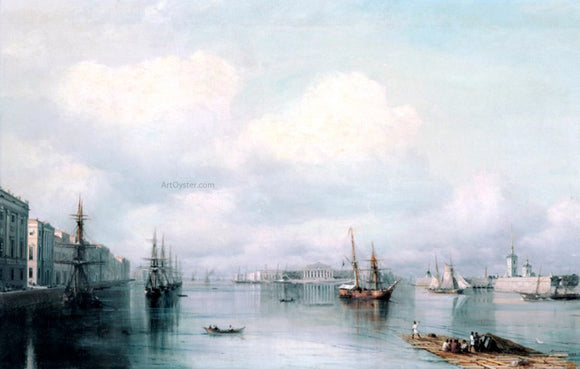 Ivan Constantinovich Aivazovsky View of Peterburg - Canvas Art Print