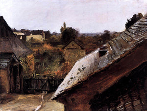 Carl Blechen View of Rooftops and Gardens - Canvas Art Print