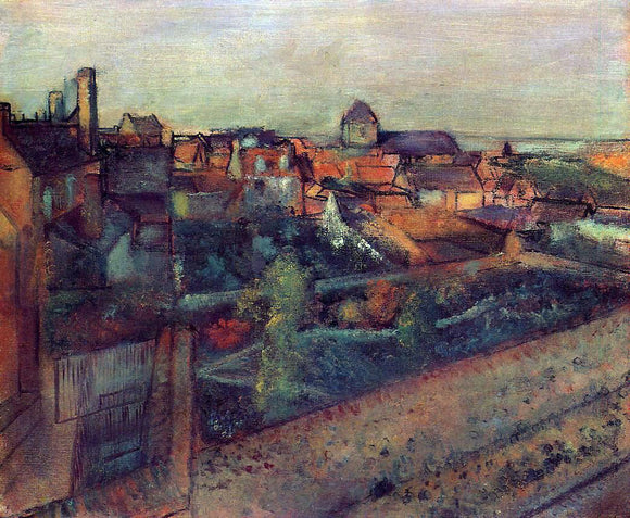 Edgar Degas View of Saint-Valery-sur-Somme - Canvas Art Print