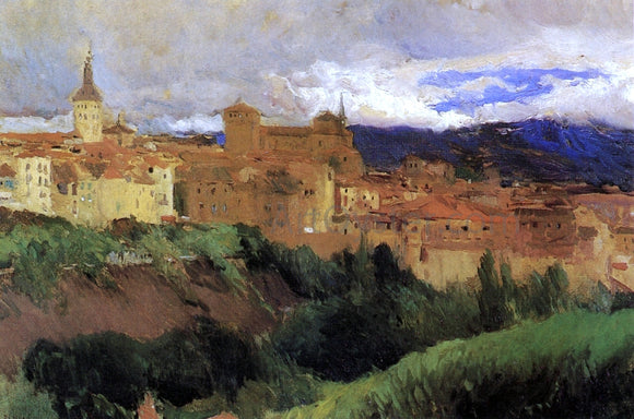 Joaquin Sorolla Y Bastida View of Segovia - Canvas Art Print