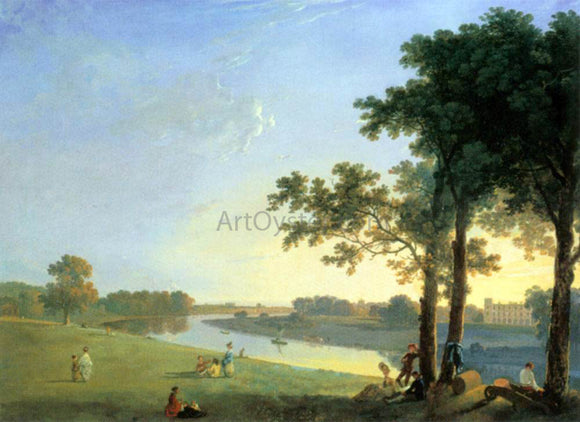 Richard Wilson View of Syon House Across the Thames near Kew Gardens - Canvas Art Print