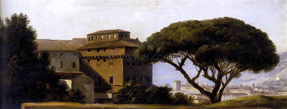 Pierre-Henri De Valenciennes View of the Convent of Ara Coeli with Pines - Canvas Art Print