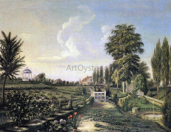 Charles Willson Peale View of the Garden at Belfield - Canvas Art Print